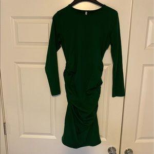 Green Long Sleeve Maternity Dress, Size Med